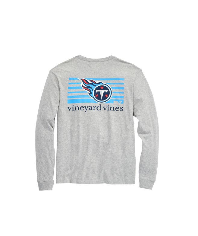Tennessee Titans Long-Sleeve Block Stripe Tee