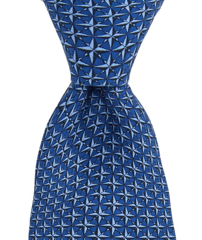 Compass Rose Printed Tie