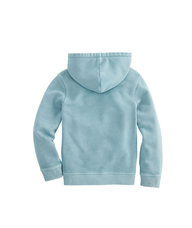 Boys Garment Dye Pop Over Hoodie Sweatshirt