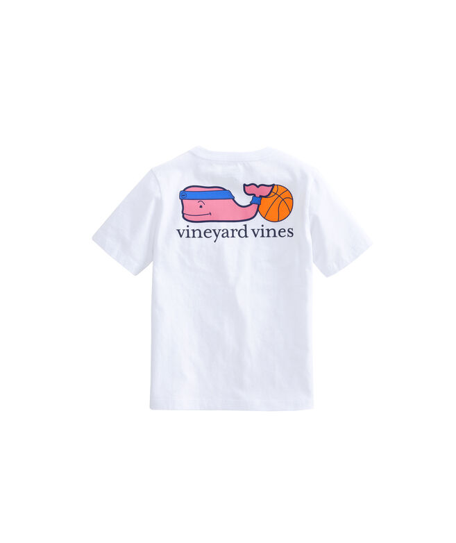 Boys Basketball Whale Pocket T-Shirt