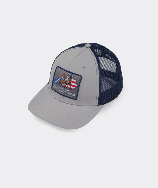Kentucky Derby Horses Patch Performance Trucker Hat