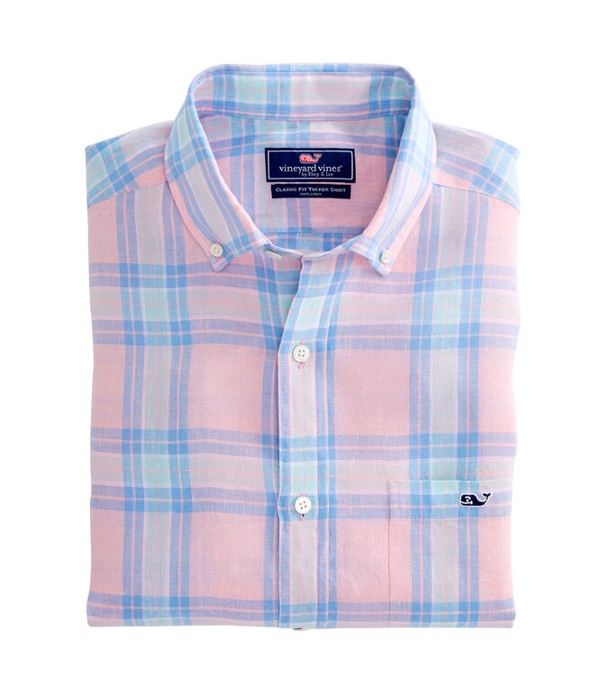 Russell Hill Plaid Classic Tucker Shirt