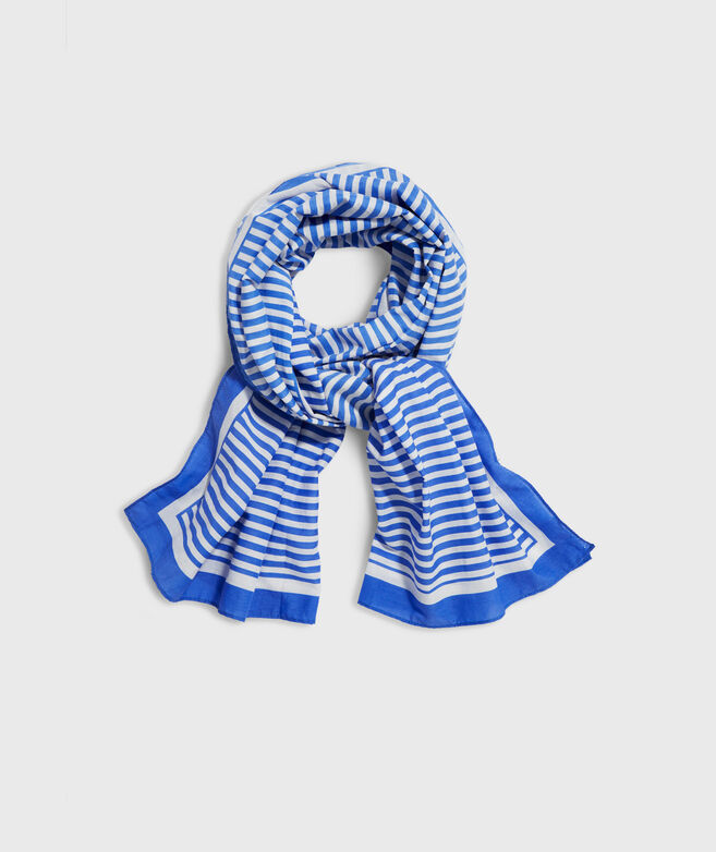 Striped Border Scarf