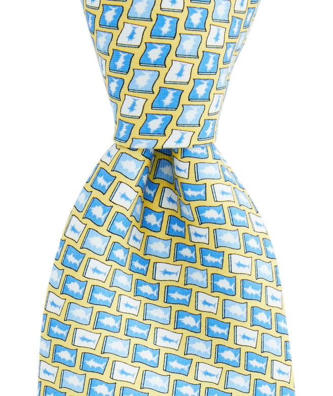 Boys Fish Flag Tie