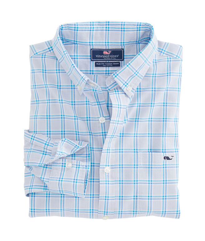 Carmel River Check Slim Tucker Shirt