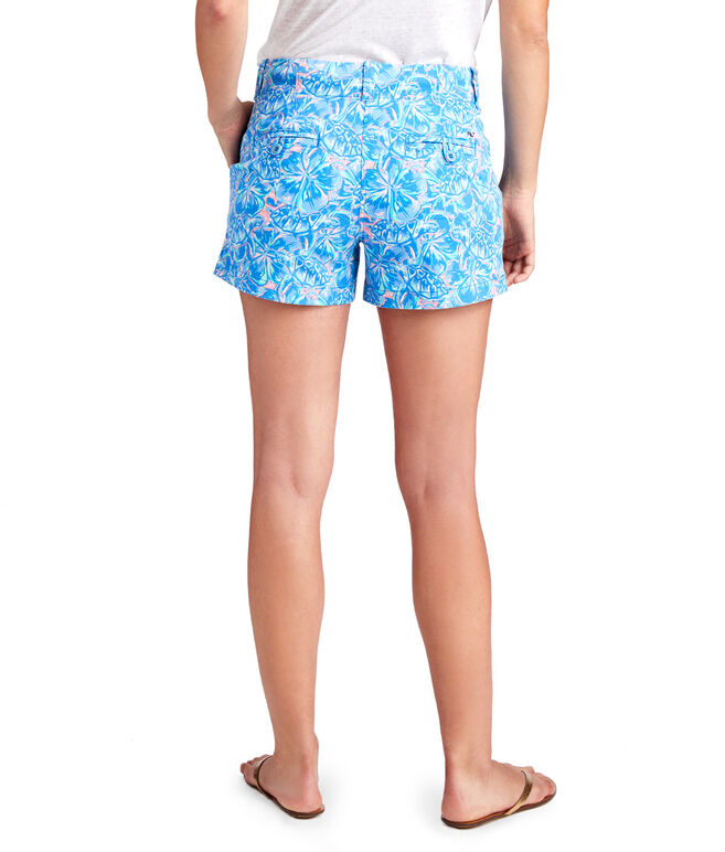 3 1/2 Inch Tropical Turtles Every Day Shorts