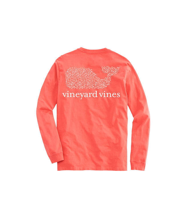 Scattered Sticks Whale Long-Sleeve Pocket Tee