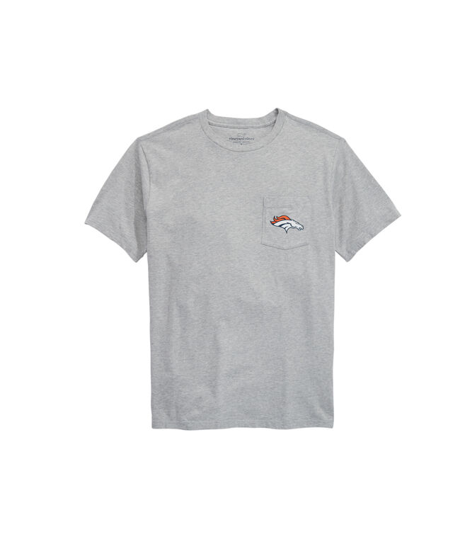 Denver Broncos Block Stripe Tee