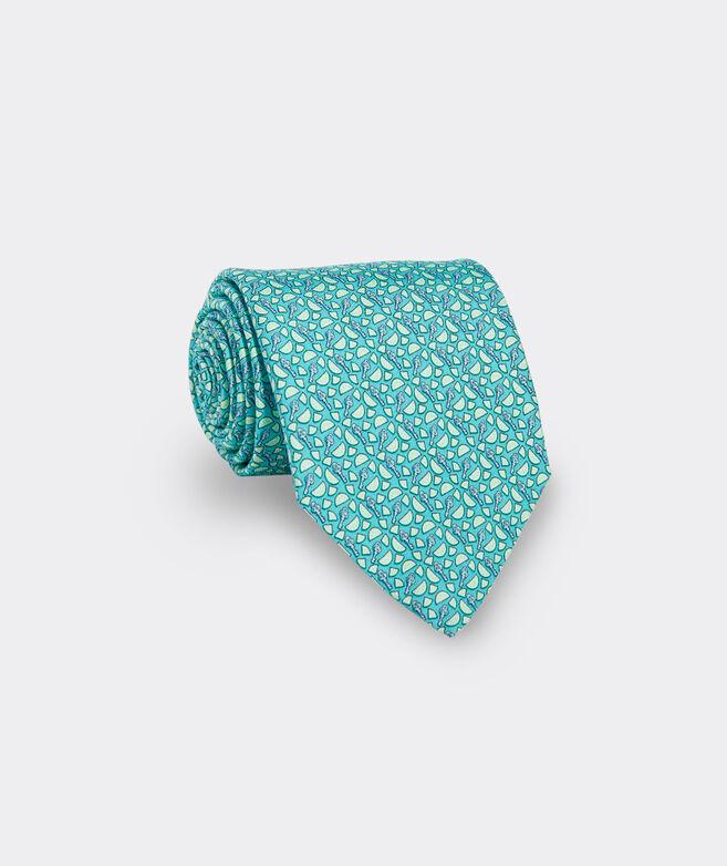 Key Lime Printed Tie