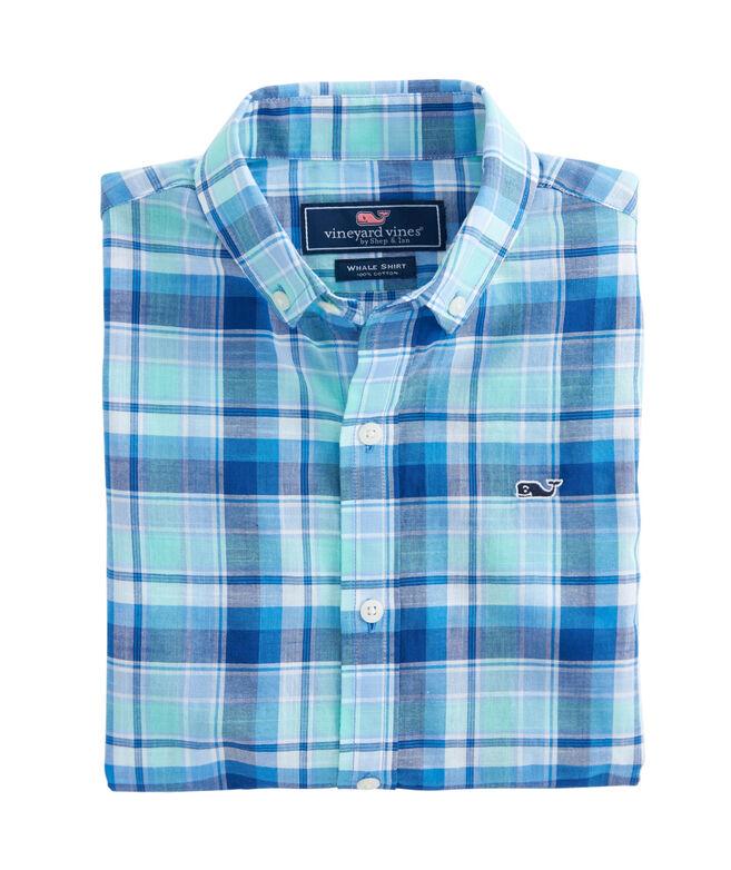 Boys Gibbs Hill Plaid Whale Shirt