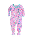 Whale Swirl Footed Onesie