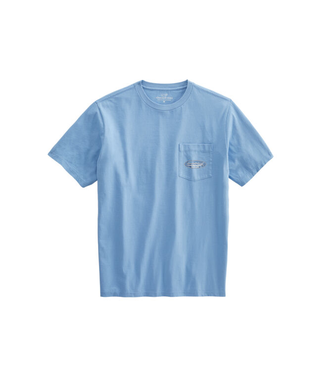 Crabby Fish Stamp Surf Fill Short-Sleeve Pocket T-Shirt