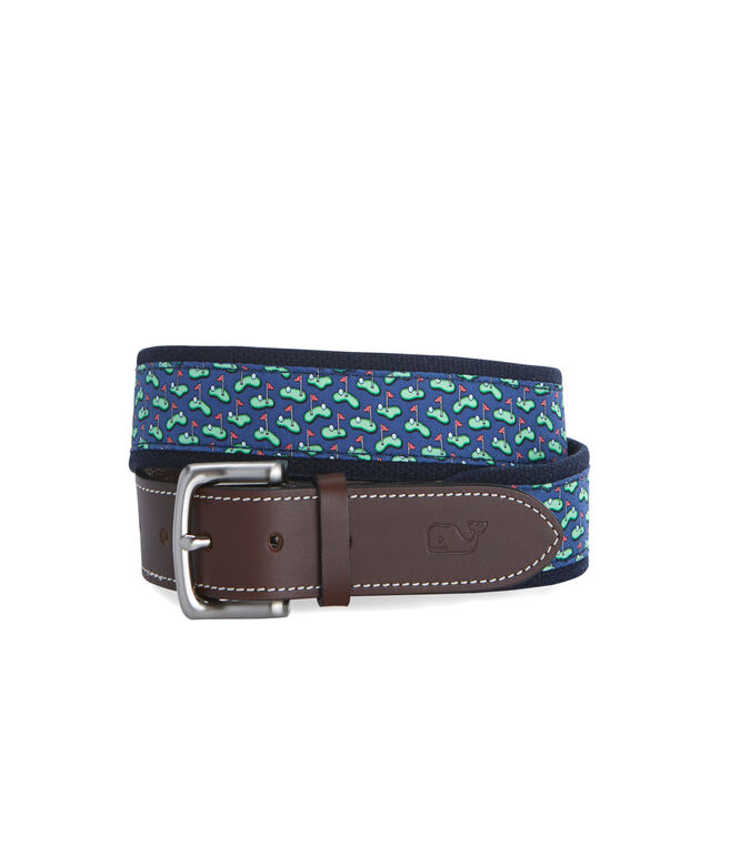 Golf Greens Canvas Club Belt