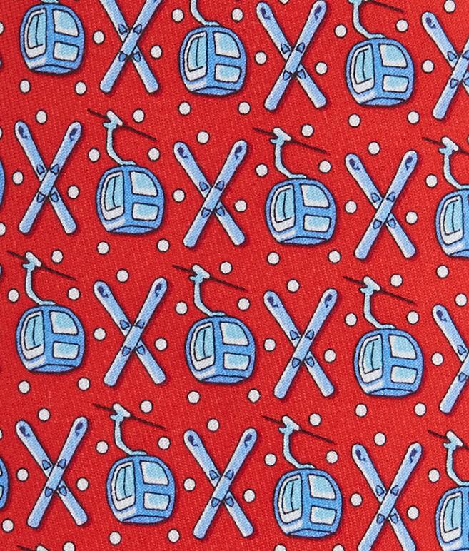 Gondola & Skis Tie