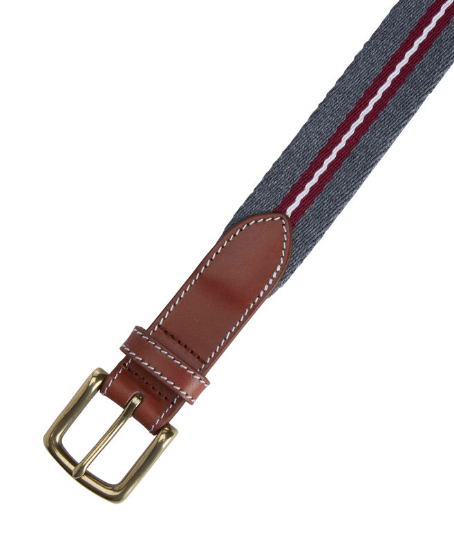 Heathered Wool Canvas Club Belt