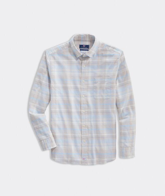 Classic Fit Plaid Shirt in Island Twill