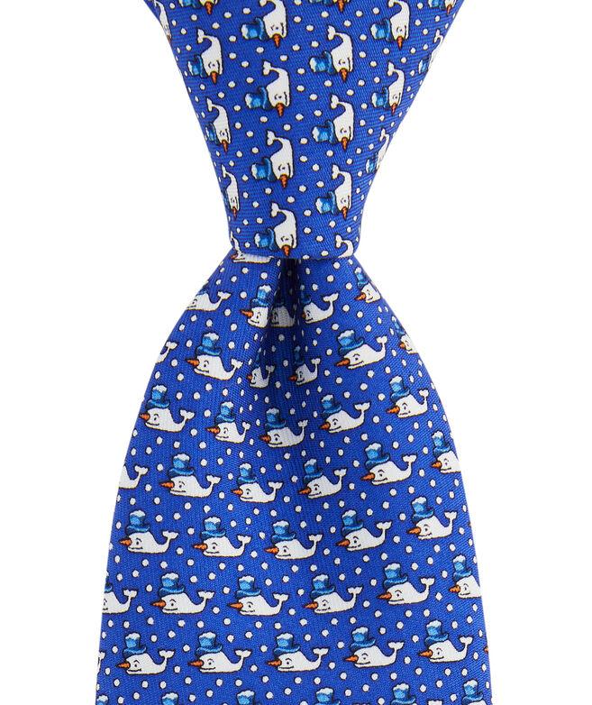 Boys' Snowman Whale Printed Tie