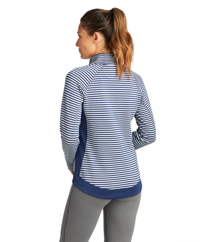 Striped Sport 1/2-Zip