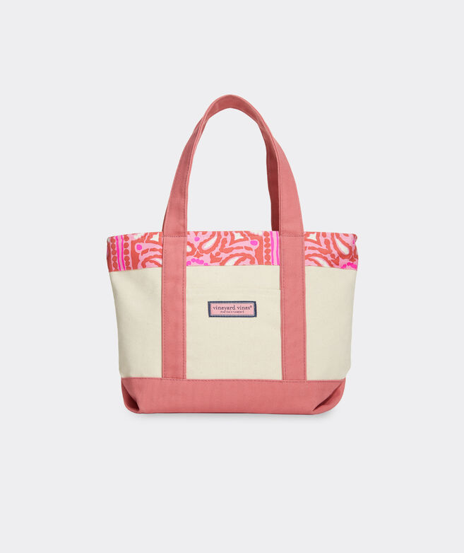 Island Scarf Print Mini Tote Bag