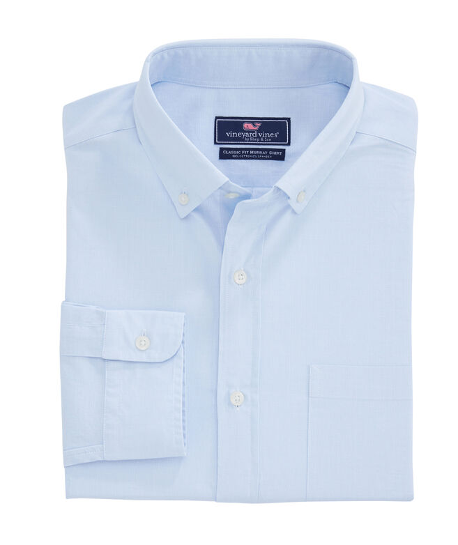 Big & Tall Classic Fit End-On-End Murray Button-Down Shirt