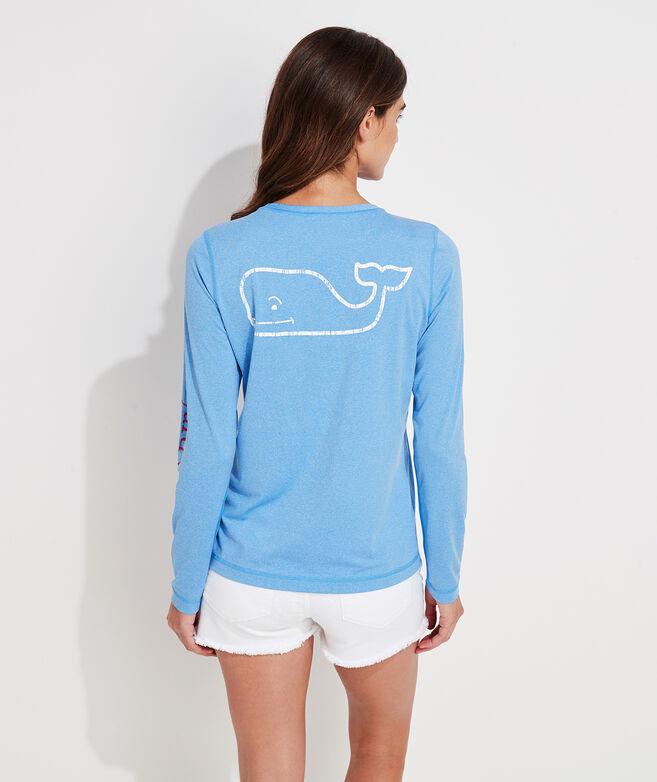 Long-Sleeve Vintage Whale Swim Shirt