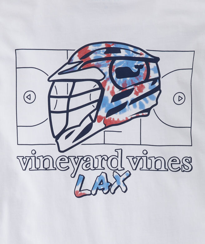 Tie Dye Lax Helmet Long-Sleeve Pocket Tee
