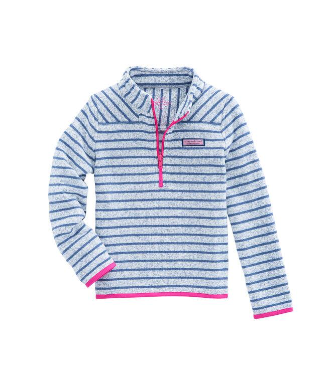 Girls Stripe Sweater Fleece Shep Shirt