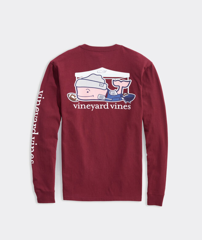 Playoff Tailgate Whale Long-Sleeve Pocket Tee