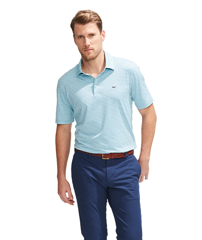 Heathered Kennedy Stripe Sankaty Polo