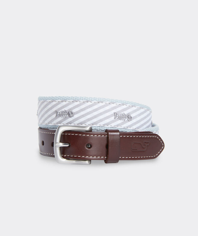 Boys' Bonefish & Stripe Canvas Club Belt