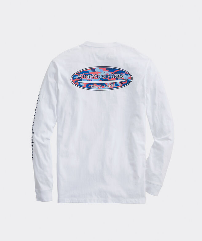 Speckled Camo Logo Long-Sleeve Pocket Tee