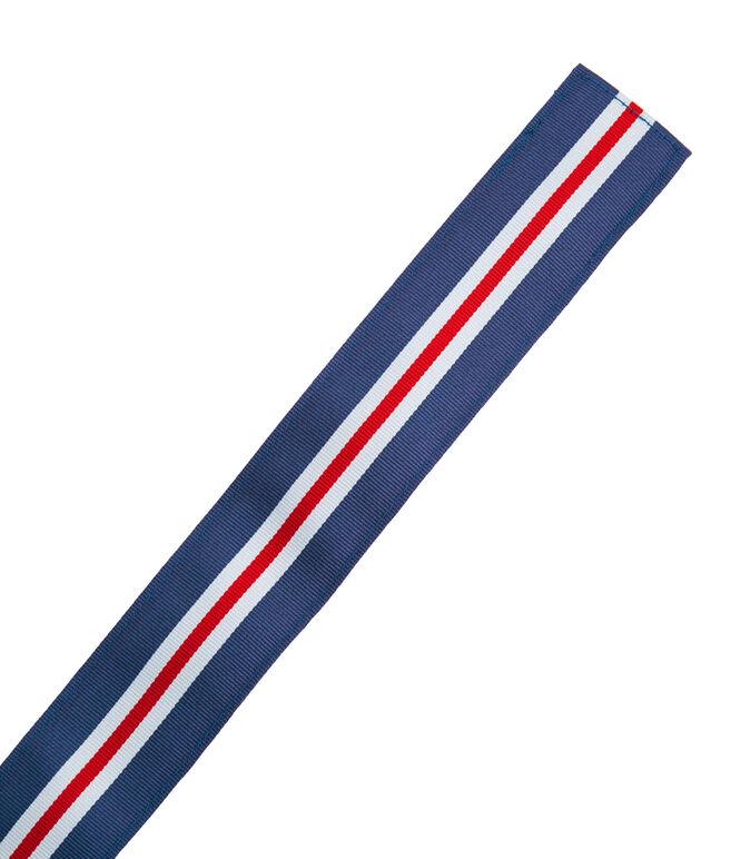 Boys Pop Stripe Ribbon D-Ring Belt