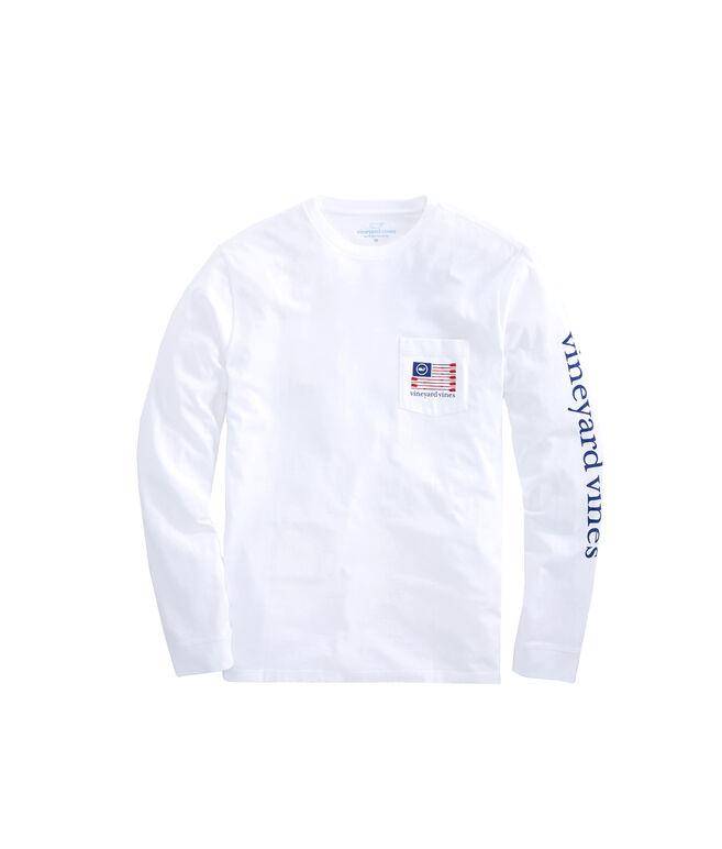 Long-Sleeve Rowing Flag Pocket T-Shirt