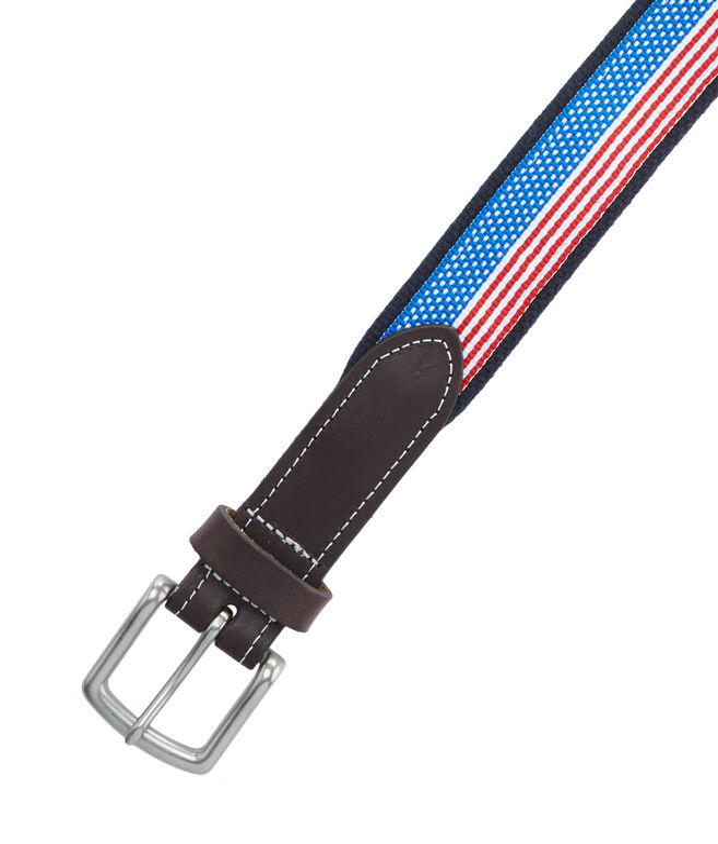 Boys Flag Ribbon Canvas Club Belt