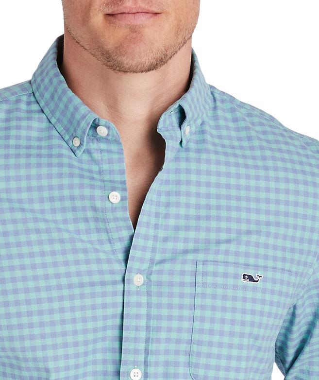 Slim Fit Gingham Madras Tucker Shirt