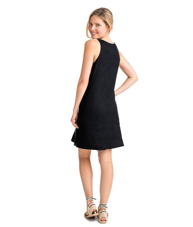 Linen Pintuck Swing Dress