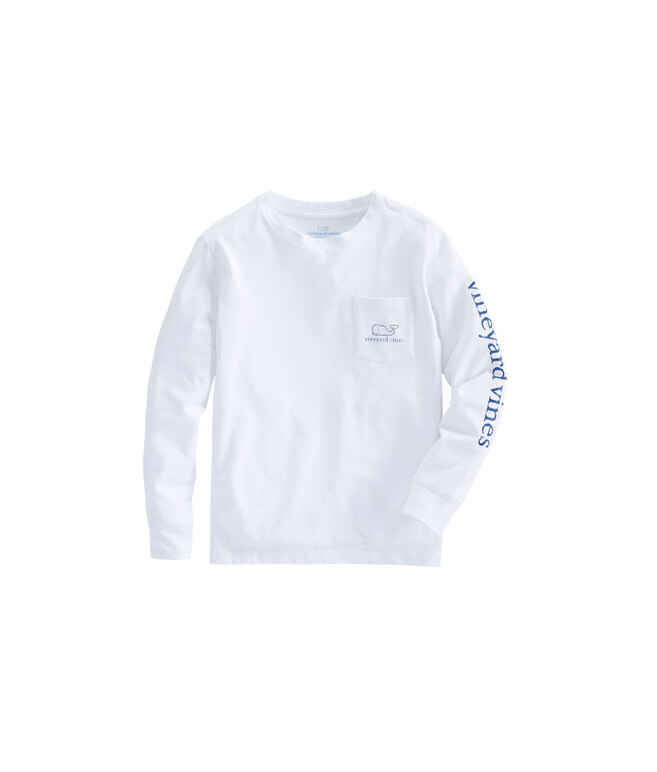 Boys Long-Sleeve Vintage Whale Edgartown T-Shirt