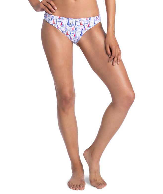 Painted Sailboats Reversible Classic Bottom