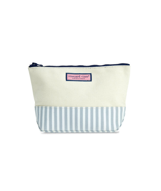 Seersucker Medium Cosmetic Case
