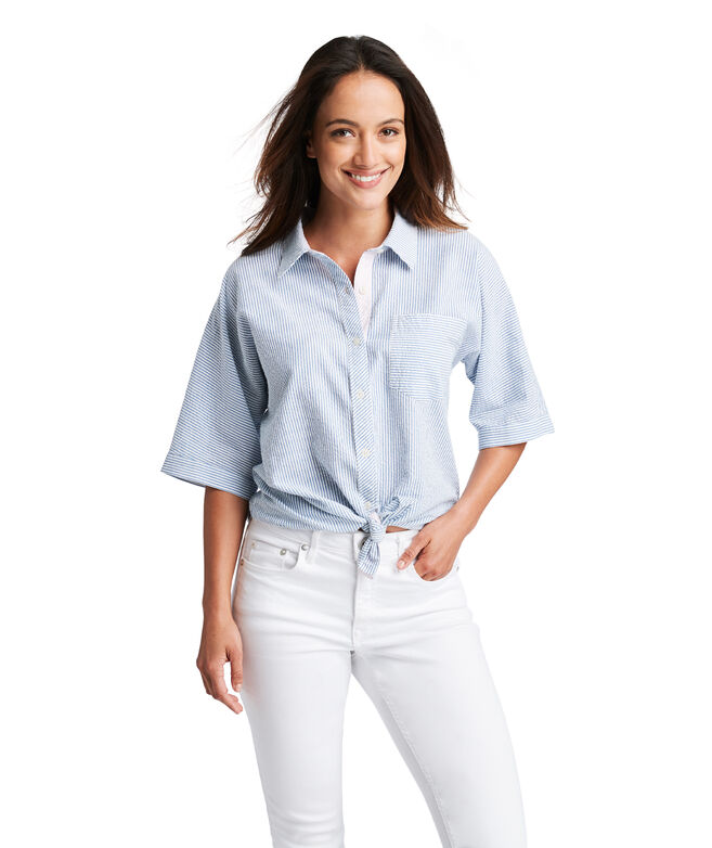 Dolman Seersucker Button Down