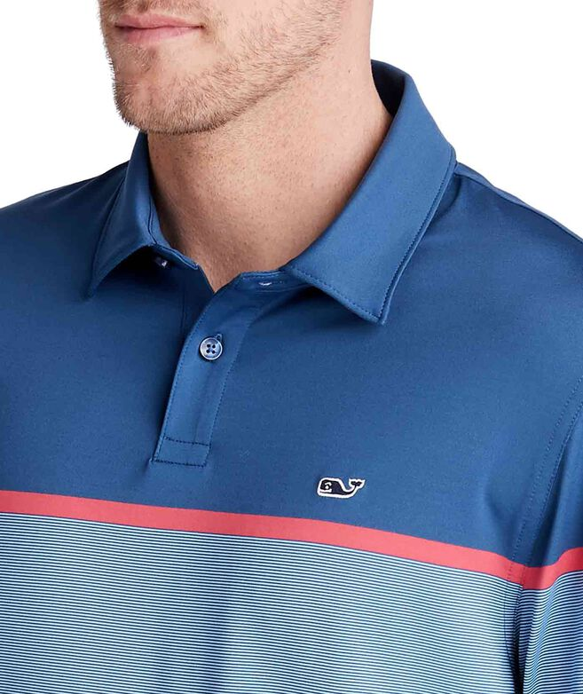 Caneel Bay Striped Bowline Fit Polo