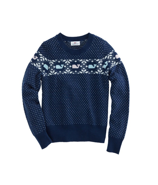 Girls Shimmer Whale Isle Sweater