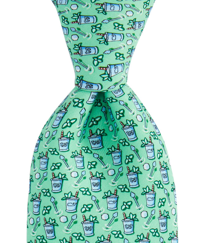 Kentucky Derby Large Mint Julep Printed Tie