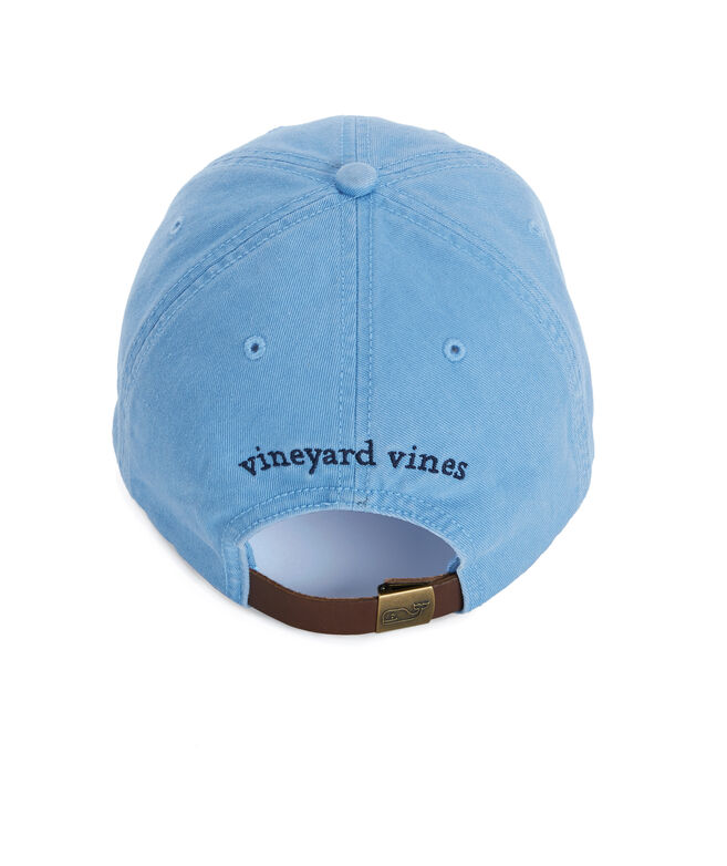 9dcf83427 Whale Logo Leather Strap Baseball Hat