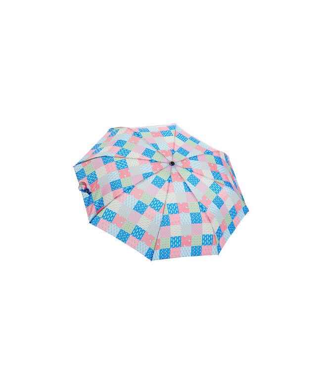 Patchwork Compact Umbrella