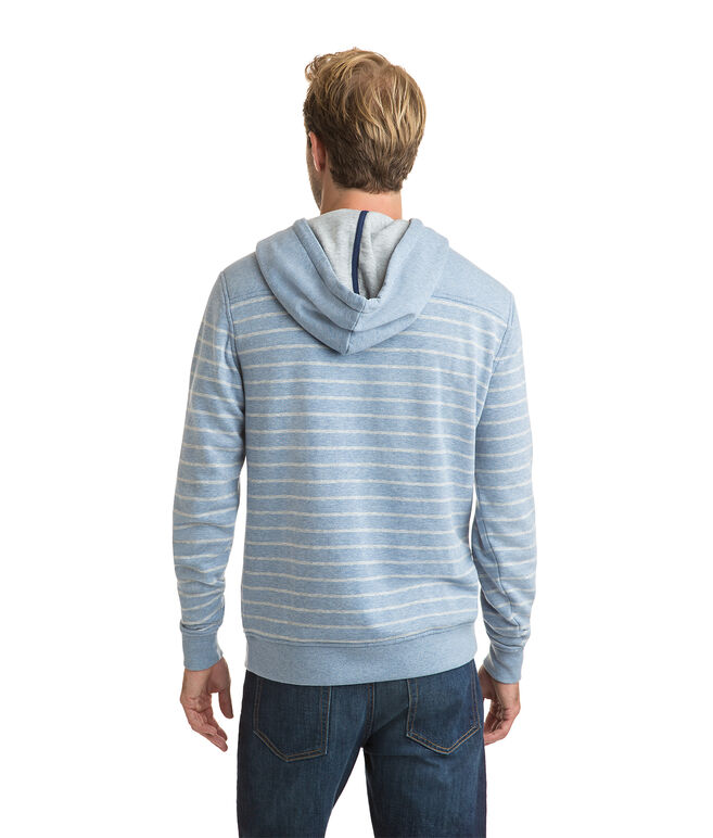 Pullover Washed Striped Hoodie
