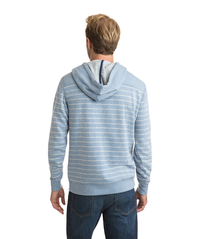 Pullover Washed Striped Hoodie Shep Shirt
