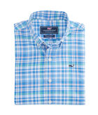 Boys Shark Bay Plaid Performance Whale Shirt