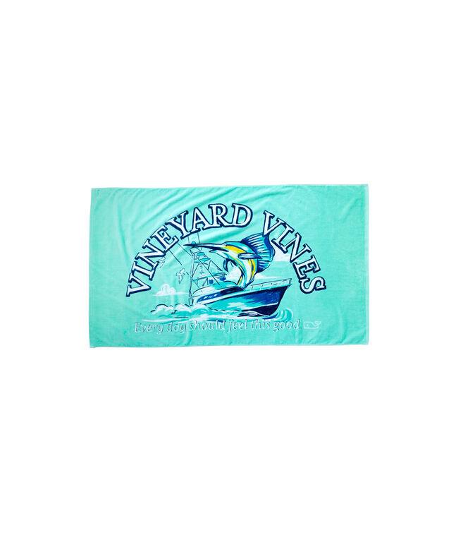 Sport Fisher Beach Towel