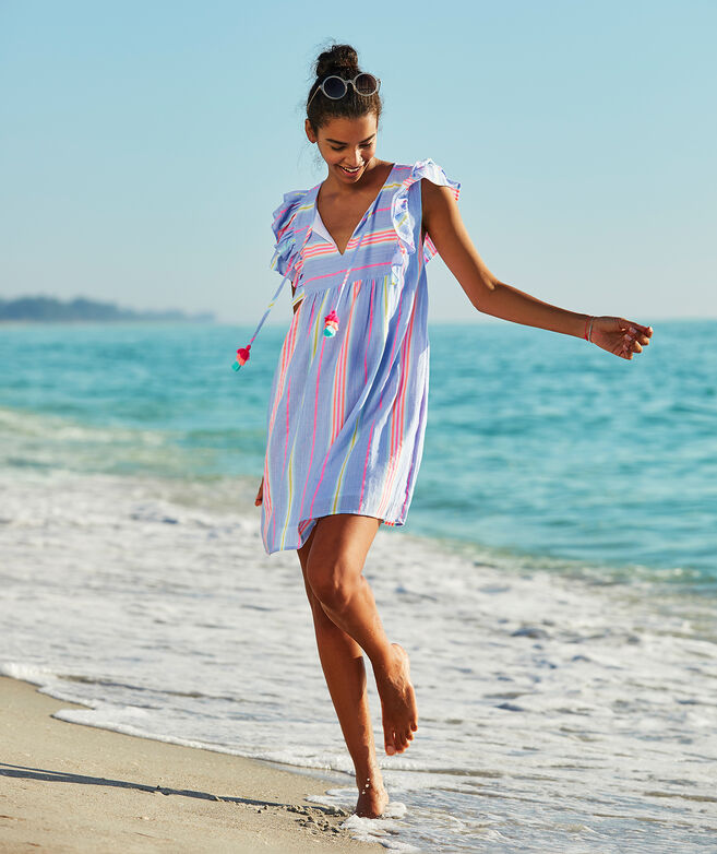 Beachy Striped Tunic Dress